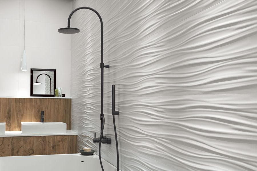 ATLAS CONCORDE | 3D WALL RIBBON White Matt & ETIC PRO Noce Hickory