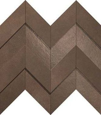 Brown Leather Chevron