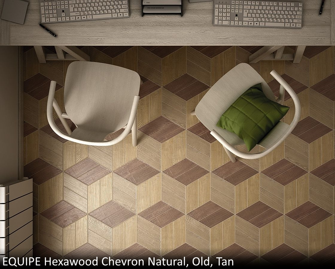 Equipe Hexawood Chevron Natural  Old  Tan