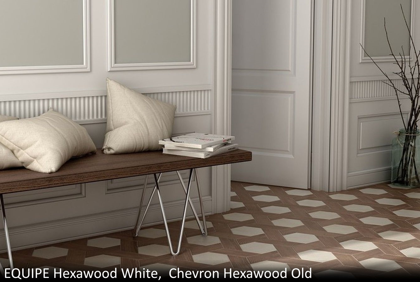 Equipe Hexawood White  Chevron Hexawood Old